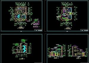 整体的多层别墅建筑设计cad施工图