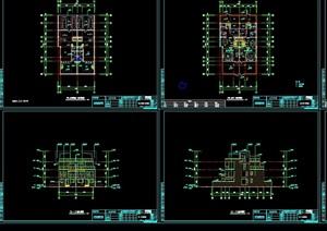 某独特的别墅建筑设计cad施工图天正打开