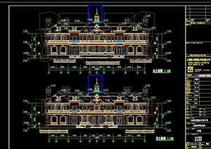 某详细的精致欧式别墅建筑设计cad施工图天正打开