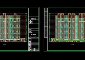 现代风格住宅小区规划设计cad施工图