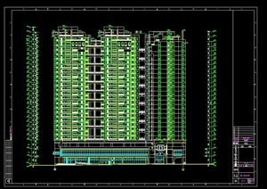 某住宅小区建筑结构cad施工图纸(含人防工程)