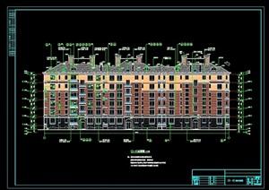 某六层住宅楼(17号)建筑cad施工图(含设计及节能说明)天正打开