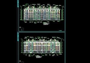 某六层住宅楼(16、9号)建筑cad施工图(含设计及节能说明)天正打开