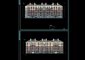 某欧式六层住宅楼建筑cad施工图(含设计及节能说明)天正打开