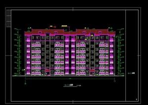 7层复式洋房住宅建筑cad施工图