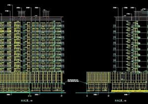 某十一层商住楼建筑cad施工图(含干挂石材幕墙图)