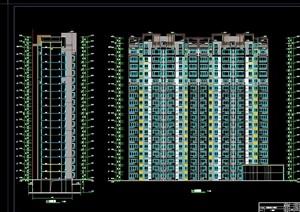 现代风格超高层安置区建筑cad施工图