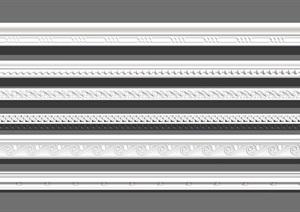 歐式石膏線條SU(草圖大師)模型