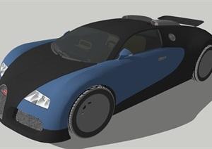 布加迪现代跑车设计SU(草图大师)模型
