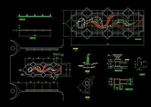 详细的独特游乐设施素材cad施工图