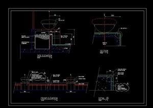 某园林景观详细花钵设计cad施工图