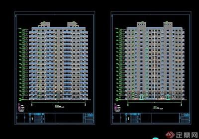 高层现代住宅楼建筑设计cad施工图