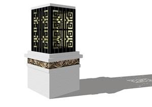 现代中式景观矮灯详细设计SU(草图大师)模型