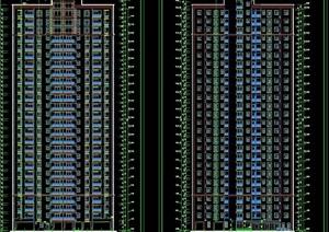 某整体详细的高层住宅楼cad施工图