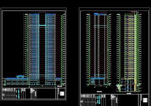 某现代风格详细的高层住宅楼设计cad施工图
