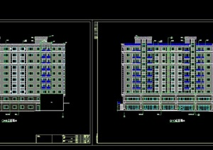 某详细的完整高层住宅楼cad施工图