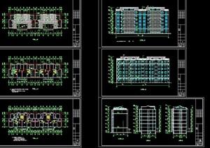 欧式风格详细的住宅楼建筑设计cad施工图天正打开