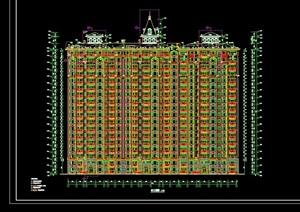 详细的欧式风格高层住宅楼设计cad施工图