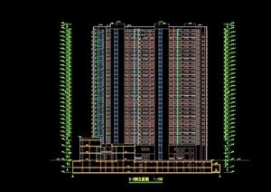 详细的高层住宅楼建筑设计cad施工图