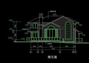 欧式风格多层别墅建筑cad方案图