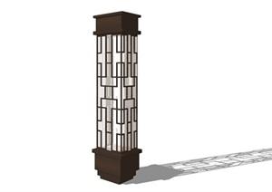 新中式景观壁灯详细设计SU(草图大师)模型