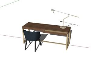 现代风格书桌椅设计SU(草图大师)模型