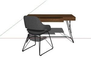 现代办公书桌椅设计SU(草图大师)模型