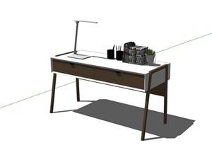 室内办公桌设计SU(草图大师)模型