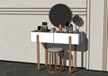 现代梳妆桌凳素材su模型
