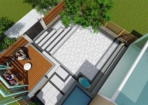 精致小别墅庭院   现代风格..