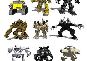 现代机械人 机器人 变形金刚SU(草图大师)模型