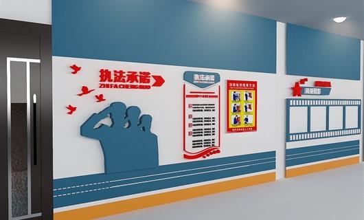 背景墙设计某大厅党政墙设计