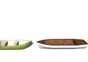 现代船 小船 船只SU(草图大师)模型2