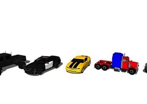现代轿车 跑车 车SU(草图大师)模型
