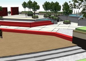 景观设计毕业设计广场设计全套资料可直接使用CAD+SU(草图大师)+ps+PPT