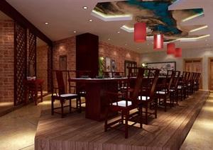 中国红元素在餐厅中的运用 ,中式风格餐饮空间设计,室内环艺毕业设计代做
