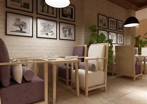 现代风格餐厅设计,室内环艺毕业设计,支持定制