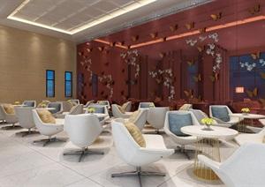现代风格售楼处设计,室内环艺毕业设计,支持定制,有成品设计