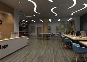 现代风格办公空间设计,室内环艺毕业设计,支持定制,有成品设计