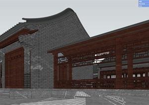 四合院完整详细的别墅建筑SU(草图大师)模型
