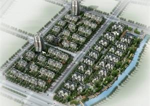 现代中式别墅项目建筑设计SU(草图大师)模型