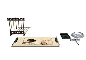 详细的室内文房四宝素材SU(草图大师)模型
