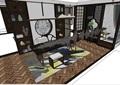 某完整的独特详细室内桌椅素材su亿博网络平台
