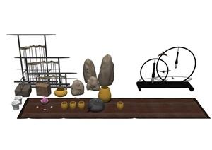 详细的室内装饰品素材设计SU(草图大师)模型