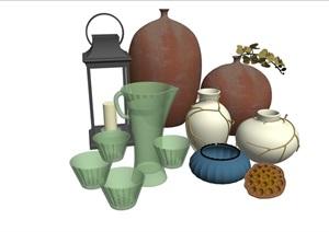某完整的详细室内装饰品素材SU(草图大师)模型