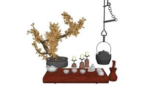 室内整体装饰品素材SU(草图大师)模型
