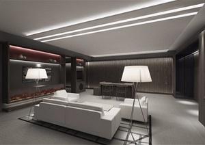 现代装修办公室装饰cad施工图+效果图