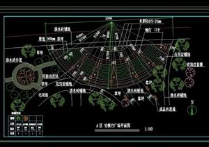 某独特的详细广场景观设计cad平面方案