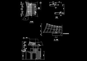 某园林景观节点小品素材设计cad施工图