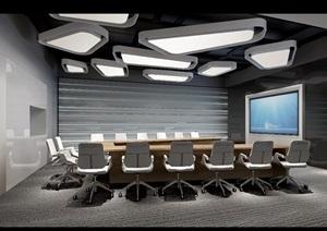 完整的办公室装饰设计cad施工图+效果图